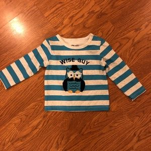 New without tags owl stripe shirt size 12 months